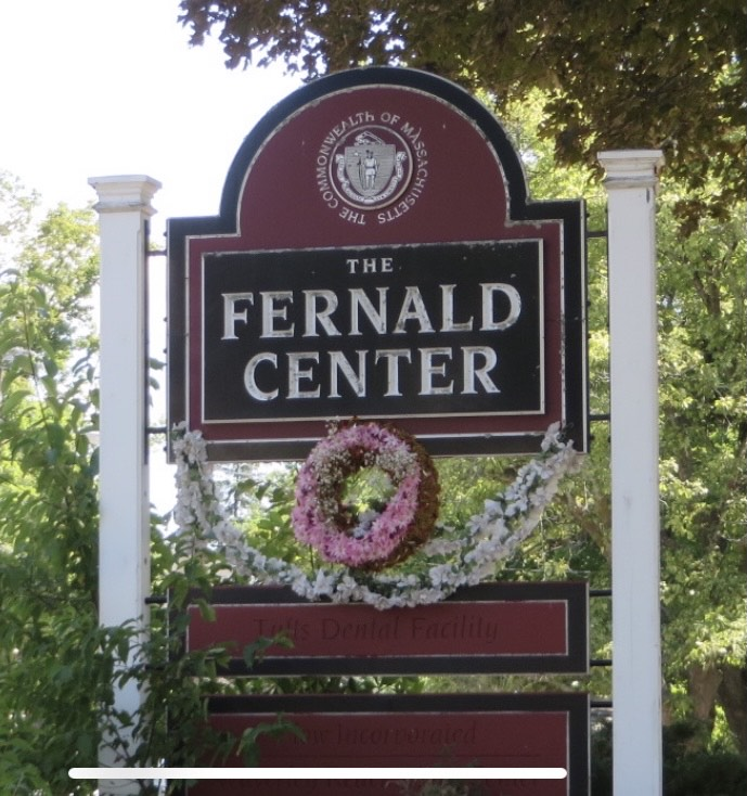 Sign at drive - The Commonwealth of Massachusetts - The Fernald Center